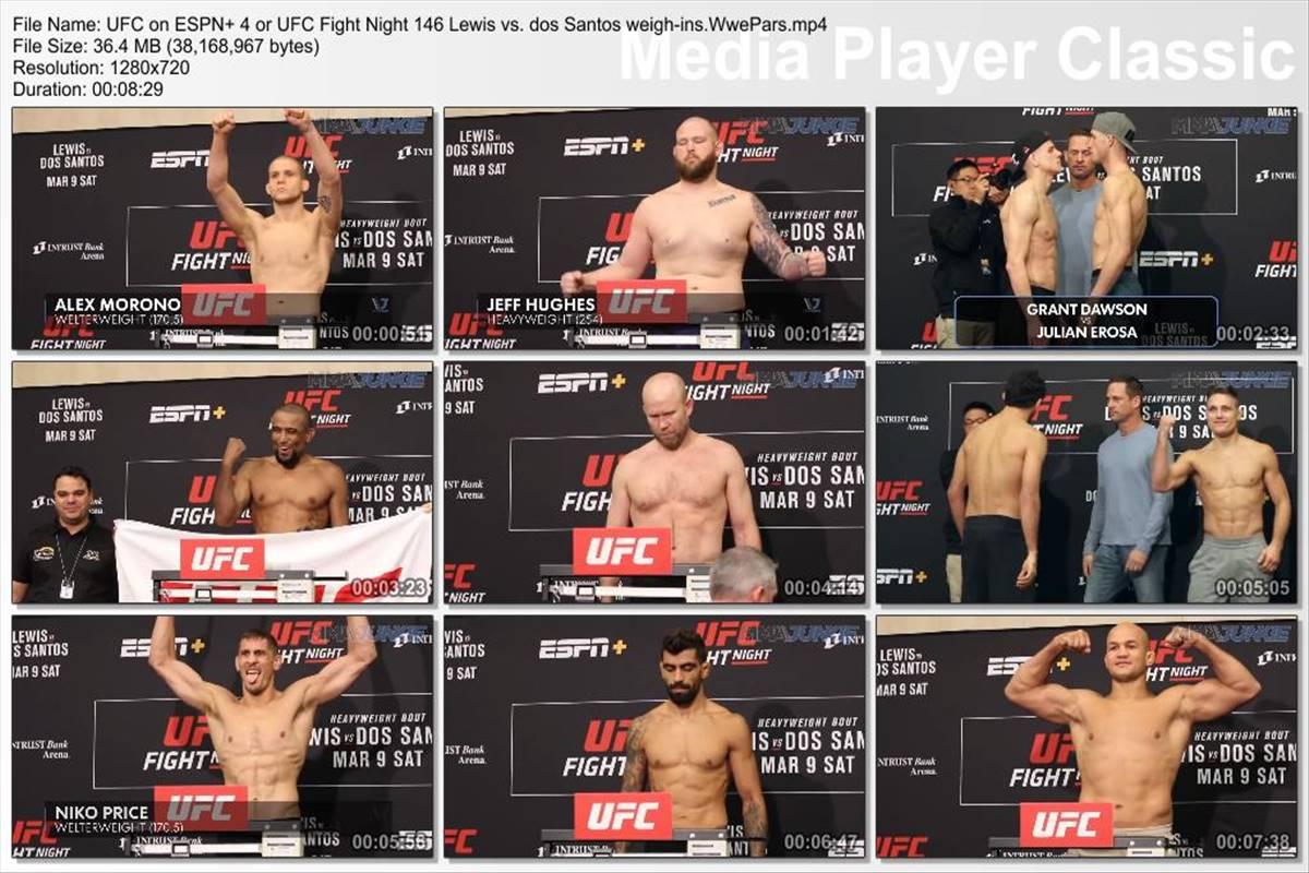 UFC Fight Night on ESPN+ 4 Lewis vs. dos Santos